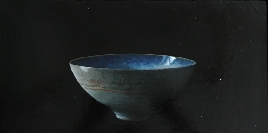 Judith Kuehne - 'Grey bowl with ice blue in