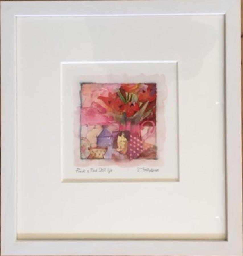 Shirley Trevena pink and red still life