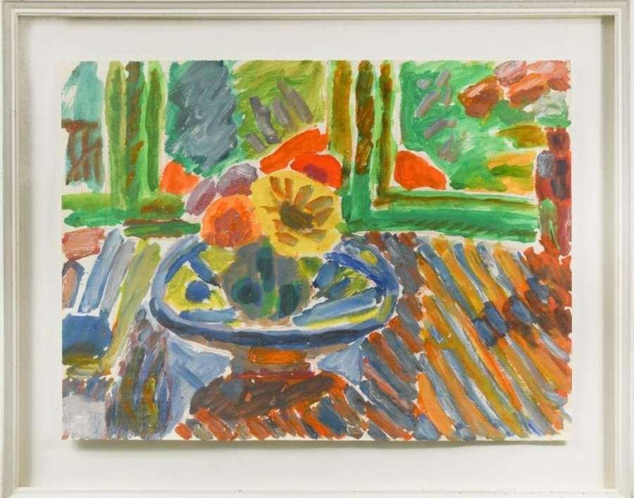 George Hooper 1910-1994 - Flowers by the Window