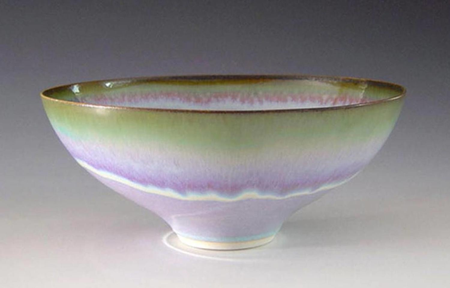 Peter Sparrey. Porcelain Bowl with rutile glaze.