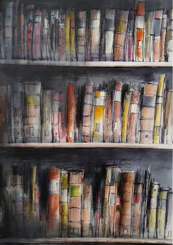 Trevor Newton. Sunlight on books 1.
