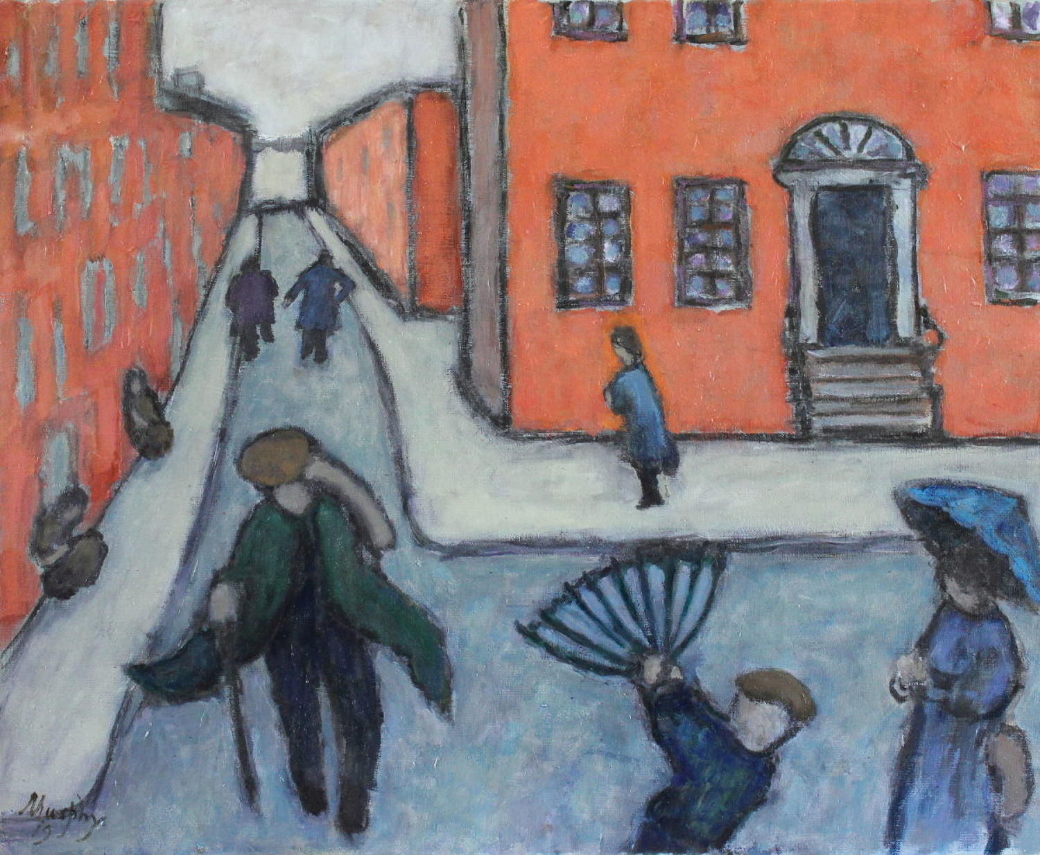 Anthony Murphy. A blustery day in Dublin