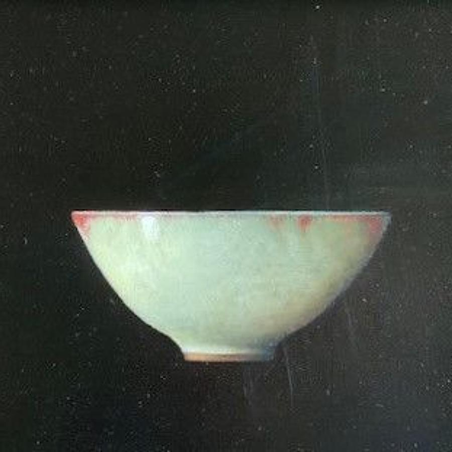 Judith Kuehne. Pale Chun Bowl, Copper red rimmed