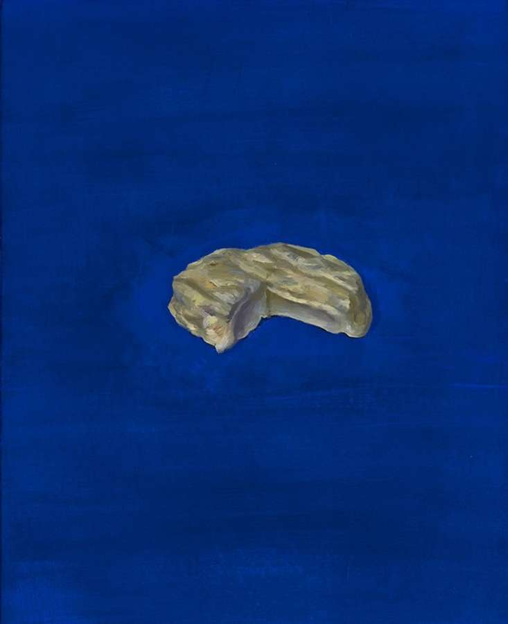 Christian Furr. Saint Felicien on blue.