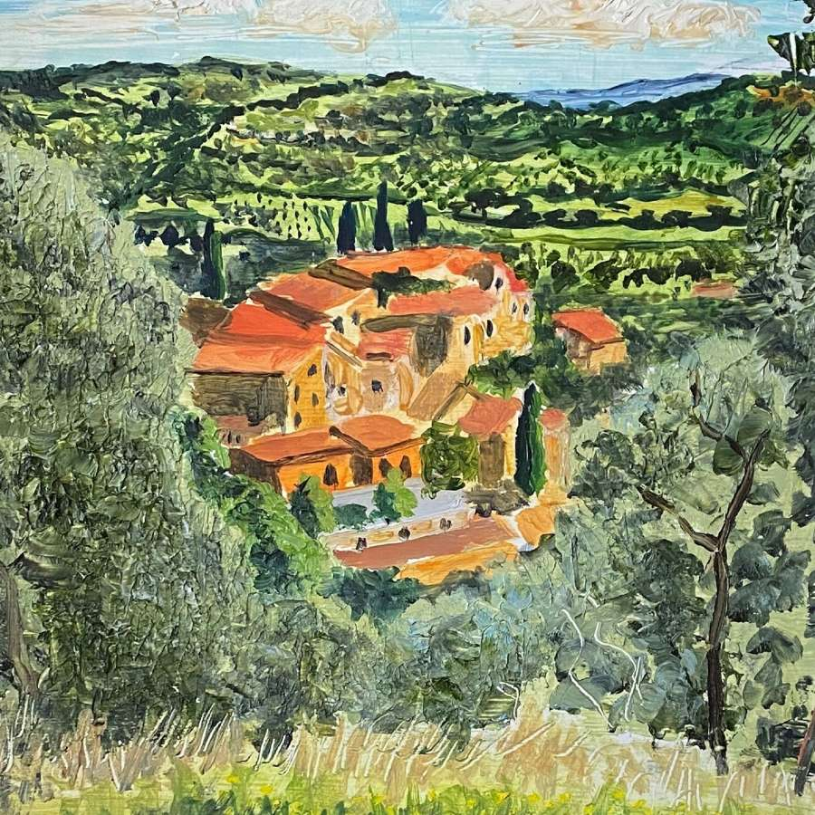 Alex Uxbridge. Umbrian Roofs.