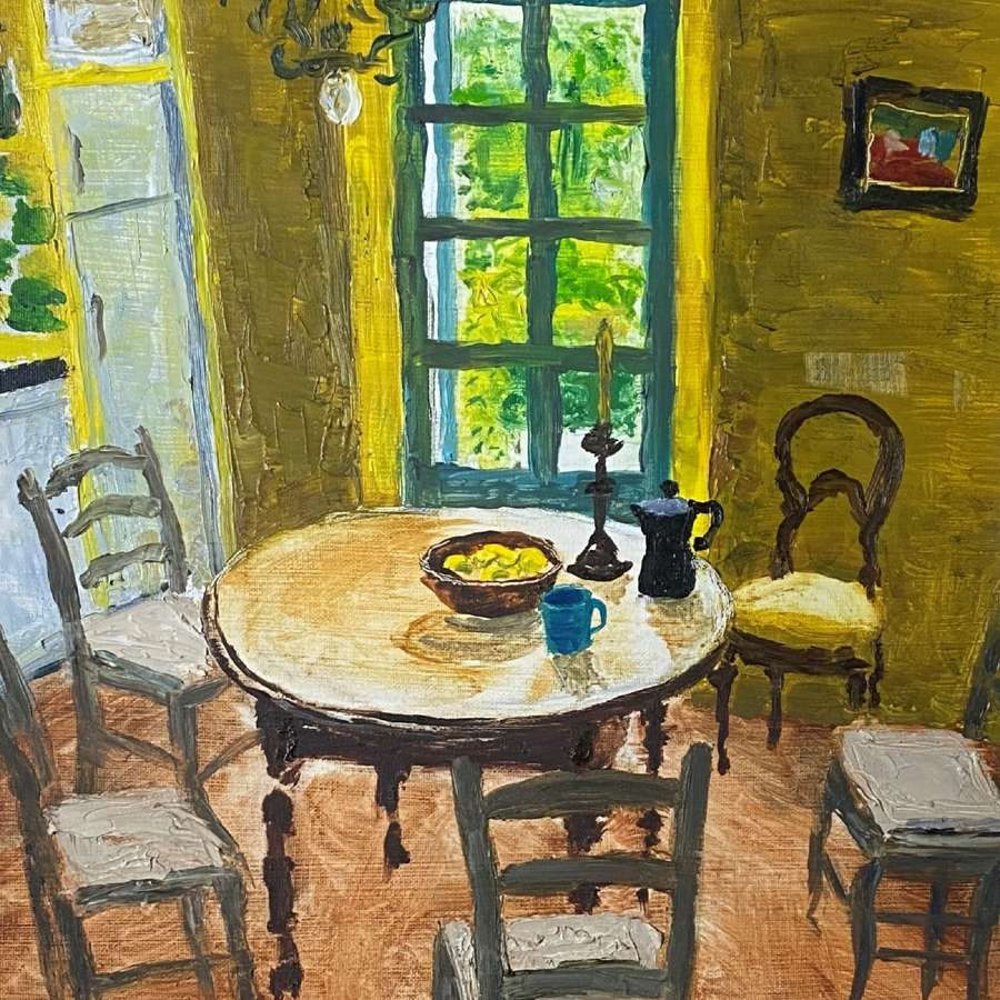 Alex Uxbridge. Yellow Provencal Kitchen.