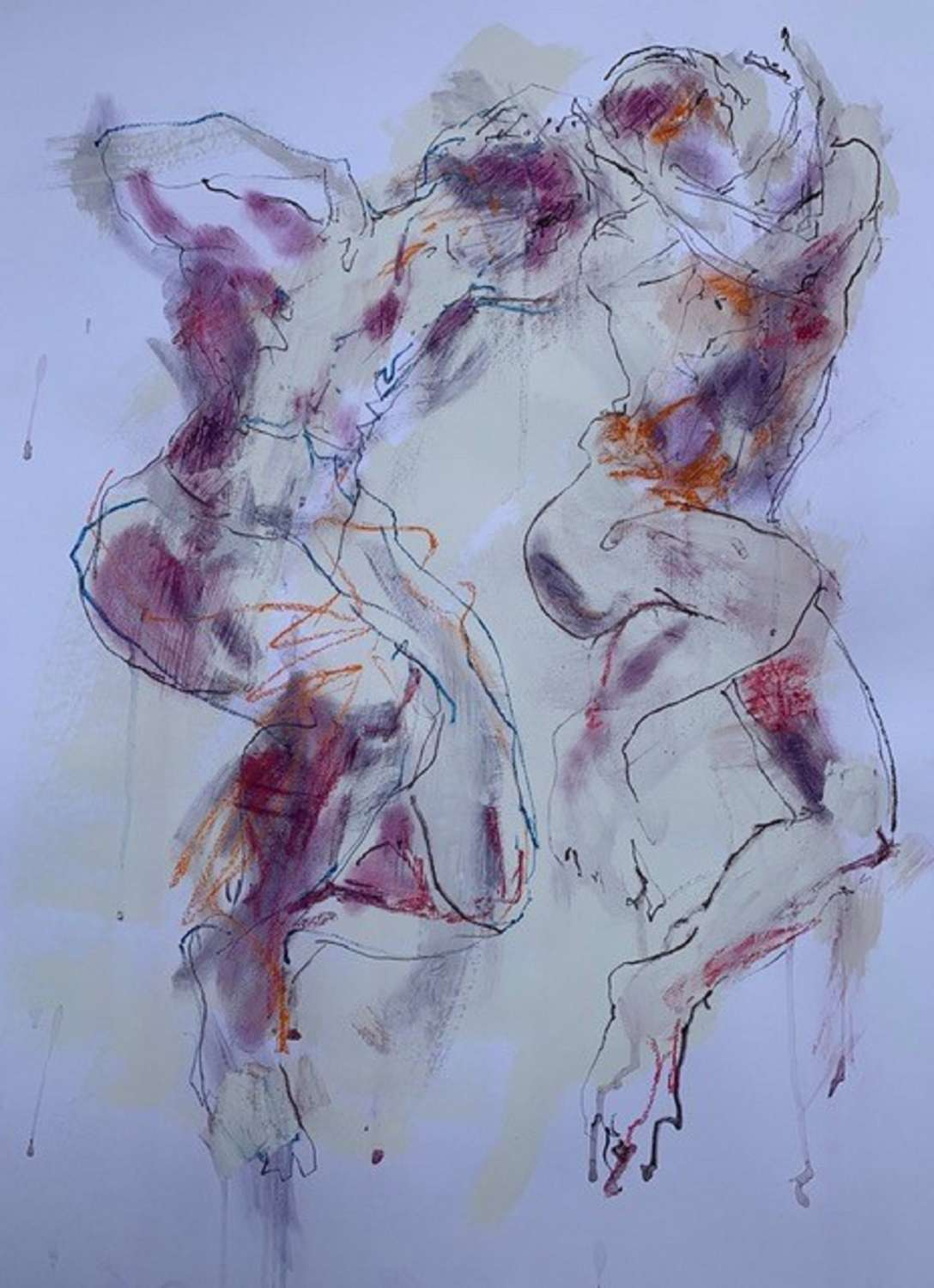 Judith Brenner. Two Figures leaping.