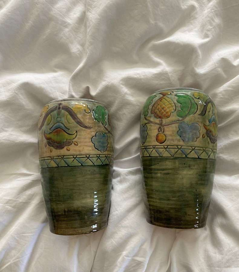 A Pair of Brangwynware Royal Doulton Vases.
