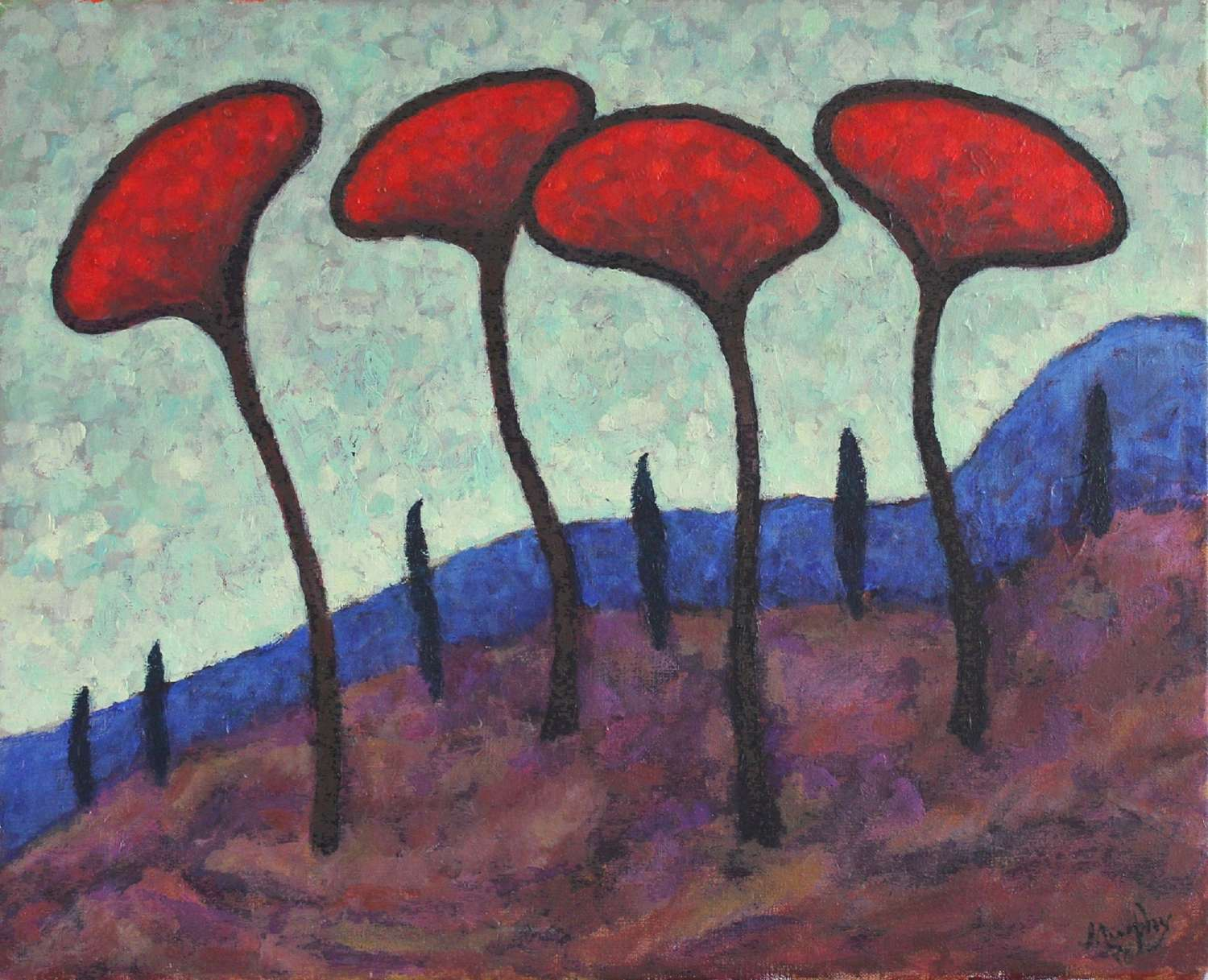 Anthony Murphy.  The four Parasols.